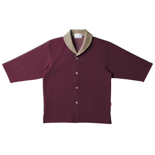 トンボ キラク ニットシャツ ワイン  LL CR840-18 1枚  (取寄品)