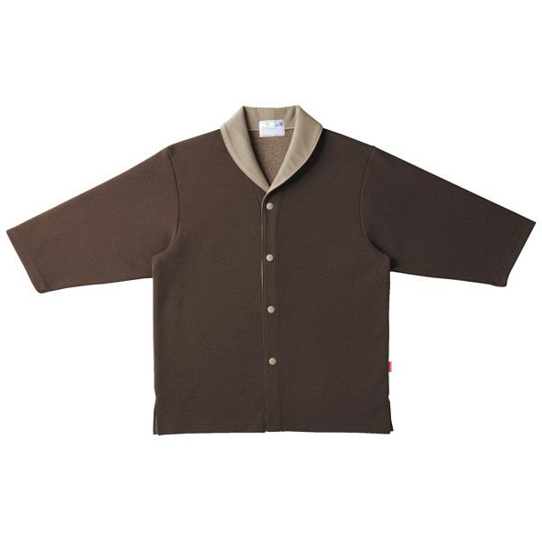 トンボ キラク ニットシャツ ブラウン  L CR840-30 1枚  (取寄品)
