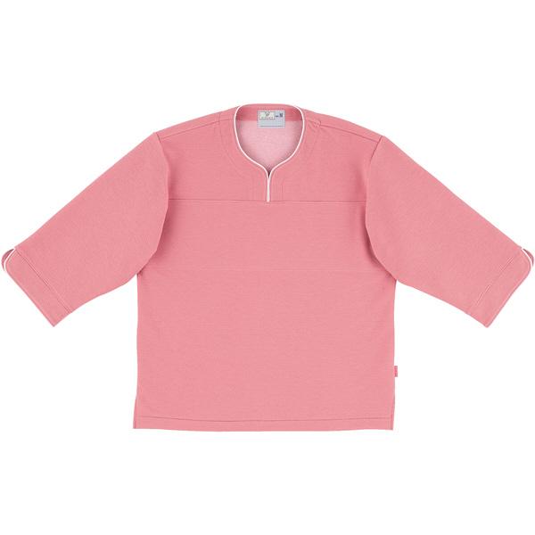 トンボ キラク 検診用シャツ ピンク S CR841-14 1枚  (取寄品)