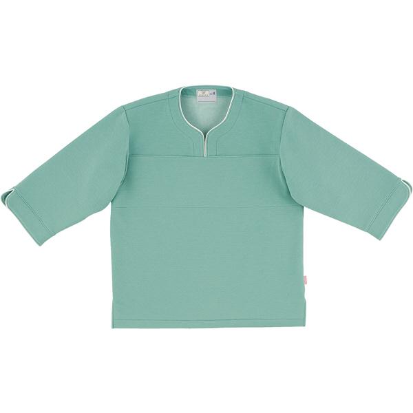 トンボ キラク 検診用シャツ エメラルドグリーン L CR841-46 1枚  (取寄品)