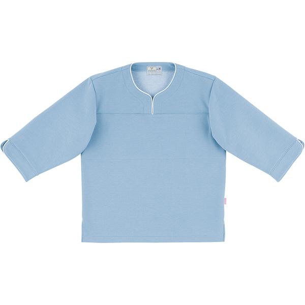 トンボ キラク 検診用シャツ インクブルー L CR841-76 1枚  (取寄品)