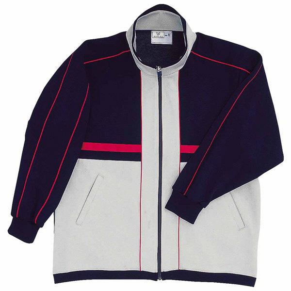 トンボ キラク ハーフジャケット 紺×グレー杢×赤 S CR050-90 1枚  (取寄品)