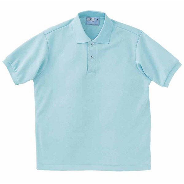 トンボ キラク ポロシャツ  サックス  M CR053-70 1枚  (取寄品)