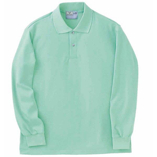 トンボ キラク 長袖ポロシャツ  ミント  LL CR054-40 1枚  (取寄品)