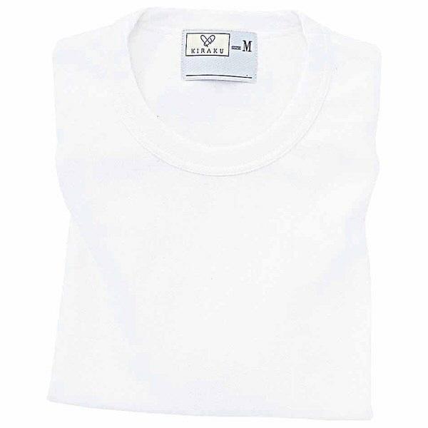 トンボ キラク Tシャツ ホワイト  M CR055-01 1枚  (取寄品)