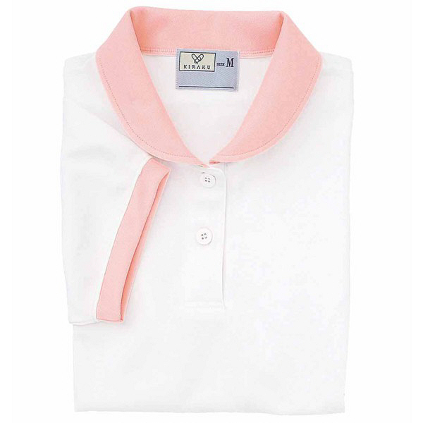 トンボ キラク ケアワークシャツ ホワイト BL  BL CR057-01 1枚  (取寄品)