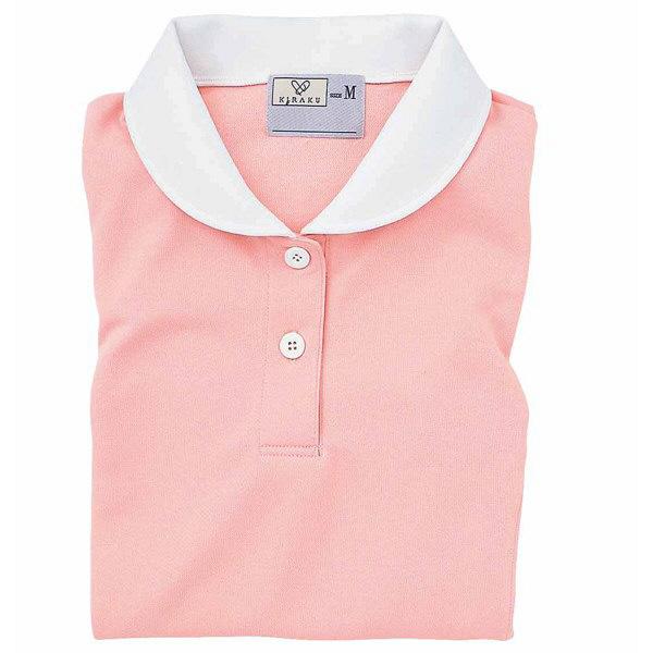 トンボ キラク ケアワークシャツ オレンジピンク L  L CR057-12 1枚  (取寄品)