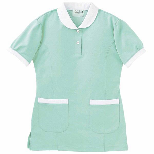 トンボ キラク ケアワークシャツ ミント L CR057-40 1枚  (取寄品)