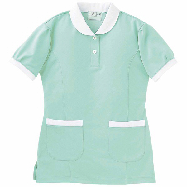 トンボ キラク ケアワークシャツ ミント BL BL CR057-40 1枚  (取寄品)