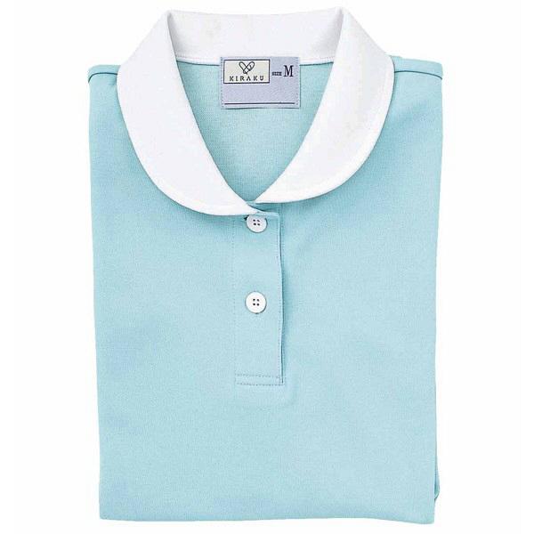 トンボ キラク ケアワークシャツ サックス LL CR057-70 1枚  (取寄品)