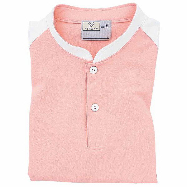 トンボ キラク ケアワークシャツ オレンジピンク L  L CR060-12 1枚  (取寄品)