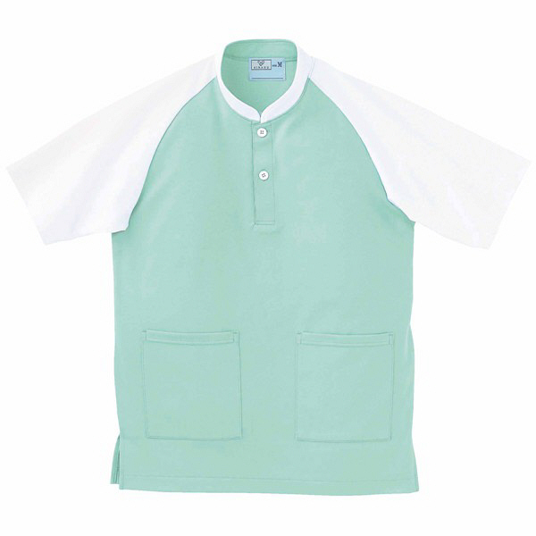 トンボ キラク ケアワークシャツ ミント S CR060-40 1枚  (取寄品)