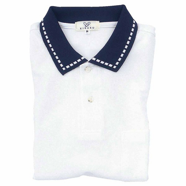 トンボ キラク ポロシャツ  白 L CR065-01 1枚  (取寄品)