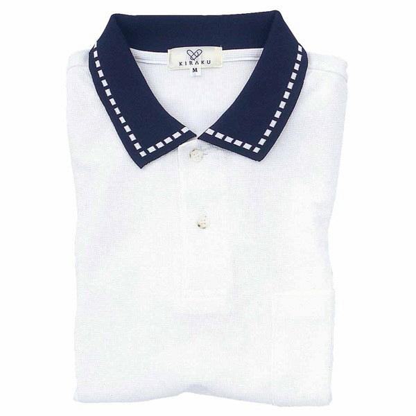 トンボ キラク ポロシャツ  白 LL CR065-01 1枚  (取寄品)