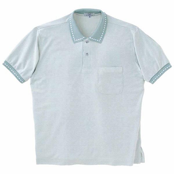 トンボ キラク ポロシャツ  ブルー L CR065-72 1枚  (取寄品)