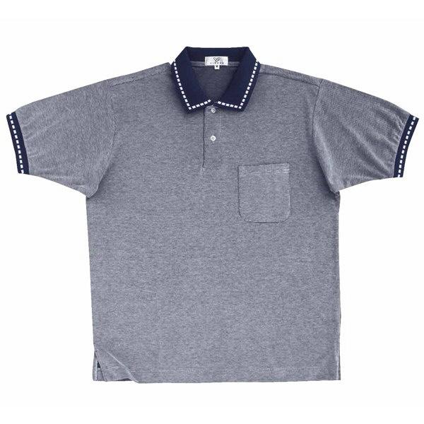 トンボ キラク ポロシャツ  ネイビー 3L CR065-88 1枚  (取寄品)