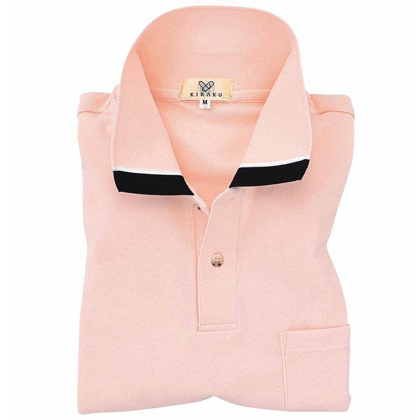 トンボ キラク ポロシャツ  オレンジピンク  S  S CR072-12 1枚  (取寄品)