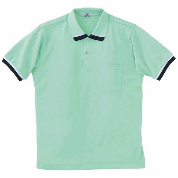 トンボ キラク ポロシャツ  ミント  M CR072-40 1枚  (取寄品)