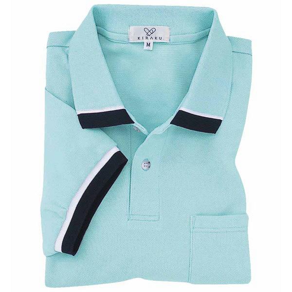 トンボ キラク ポロシャツ  サックス  3L  3L CR072-70 1枚  (取寄品)