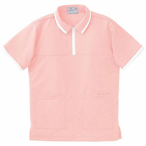 トンボ キラク ケアワークシャツ オレンジピンク M  M CR076-12 1枚  (取寄品)