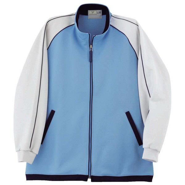 トンボ キラク ケアワークシャツ  ブルー L CR082-75 1枚  (取寄品)