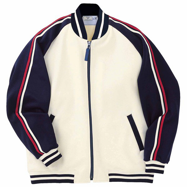 トンボ キラク ケアワークジャケット オフ白×紺 3L CR083-50 1枚  (取寄品)