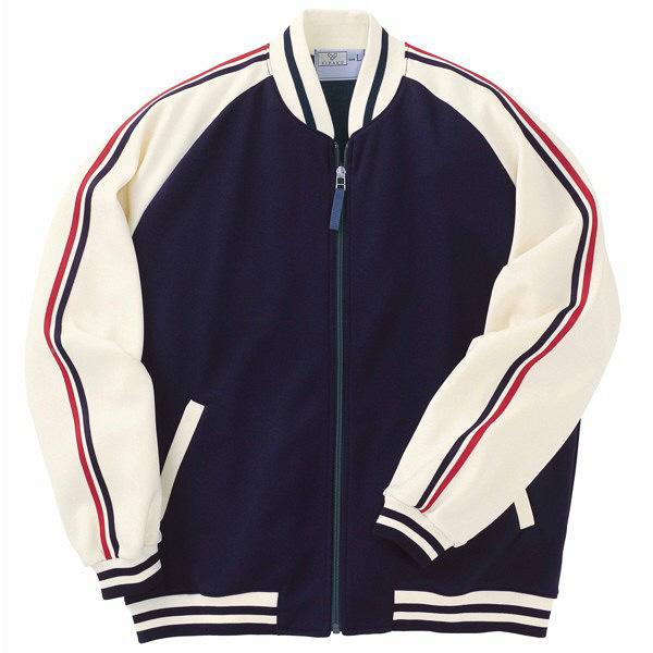 トンボ キラク ケアワークジャケット 紺×オフ白 S CR083-88 1枚  (取寄品)