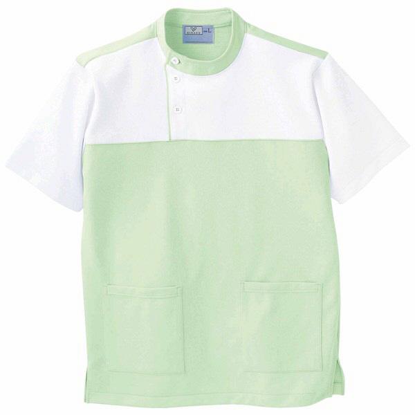 トンボ キラク ケアワーシャツ グリーン M CR084-37 1枚  (取寄品)