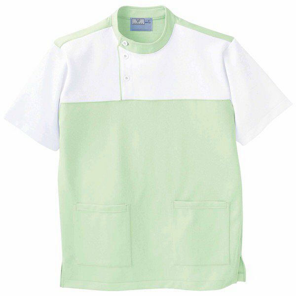 トンボ キラク ケアワーシャツ グリーン L  L CR084-37 1枚  (取寄品)