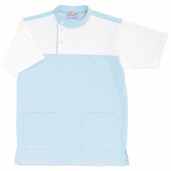 トンボ キラク ケアワーシャツ サックス 3L  3L CR084-70 1枚  (取寄品)