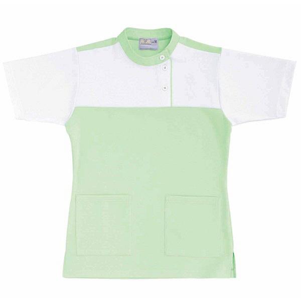 トンボ キラク ケアワーシャツ グリーン M CR085-37 1枚  (取寄品)
