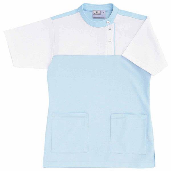 トンボ キラク ケアワーシャツ サックス L CR085-70 1枚  (取寄品)