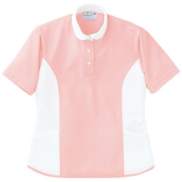 トンボ キラク ケアワーシャツ ピンク M CR086-12 1枚  (取寄品)