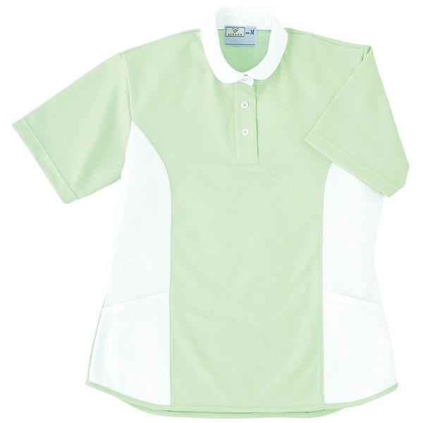 トンボ キラク ケアワーシャツ グリーン M CR086-37 1枚  (取寄品)