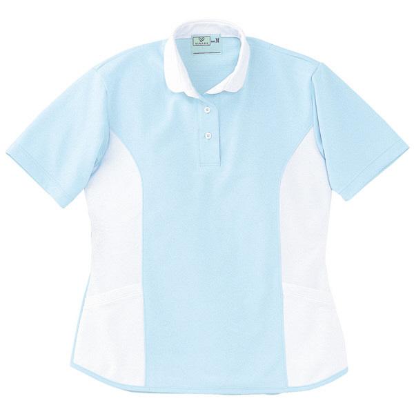 トンボ キラク ケアワーシャツ サックス L CR086-70 1枚  (取寄品)