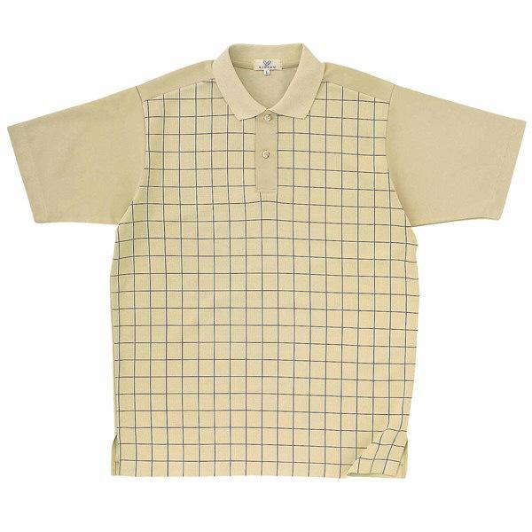 トンボ キラク ニットシャツ  ベージュ M CR087-28 1枚  (取寄品)