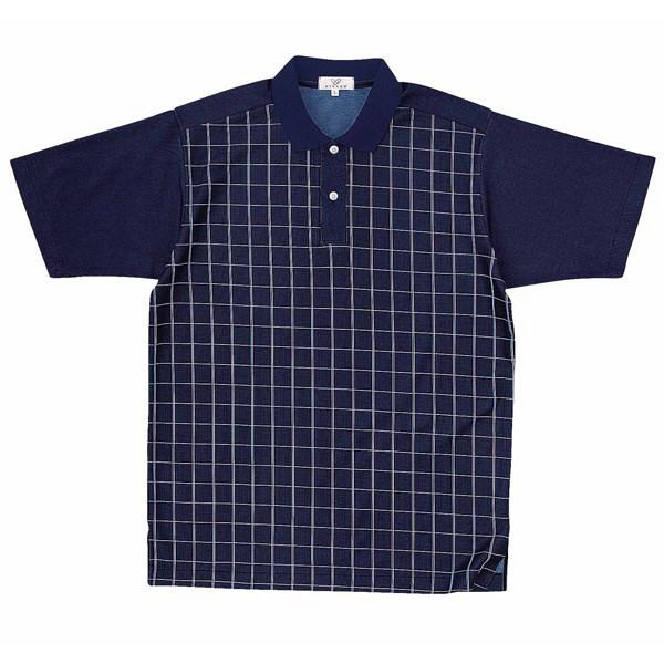 トンボ キラク ニットシャツ  ネィビー LL CR087-88 1枚  (取寄品)
