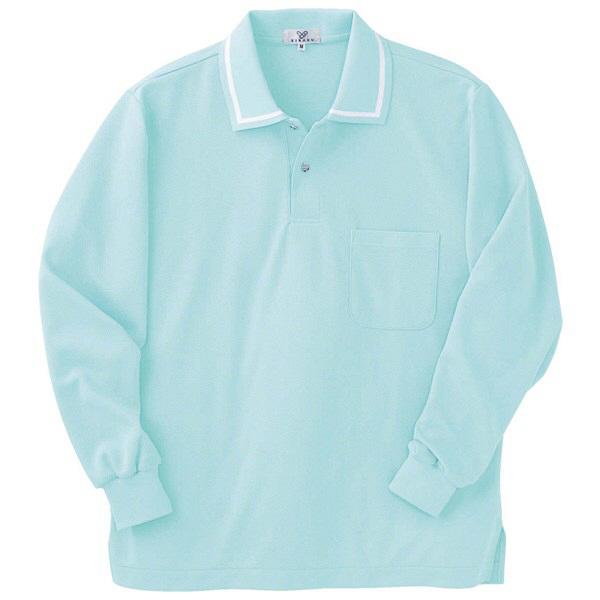 トンボ キラク 長袖ポロシャツ アイスミント S CR088-41 1枚  (取寄品)