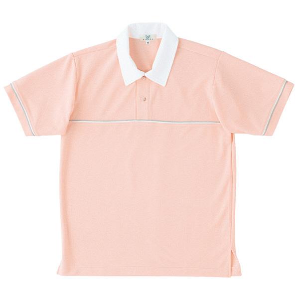 トンボ キラク ニットシャツ オレンジピンク L CR093-13 1枚  (取寄品)
