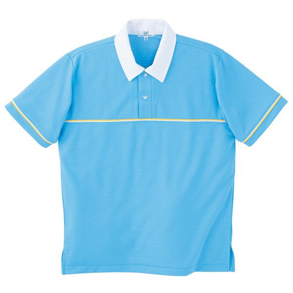 トンボ キラク ニットシャツ ブルー 3L CR093-76 1枚  (取寄品)