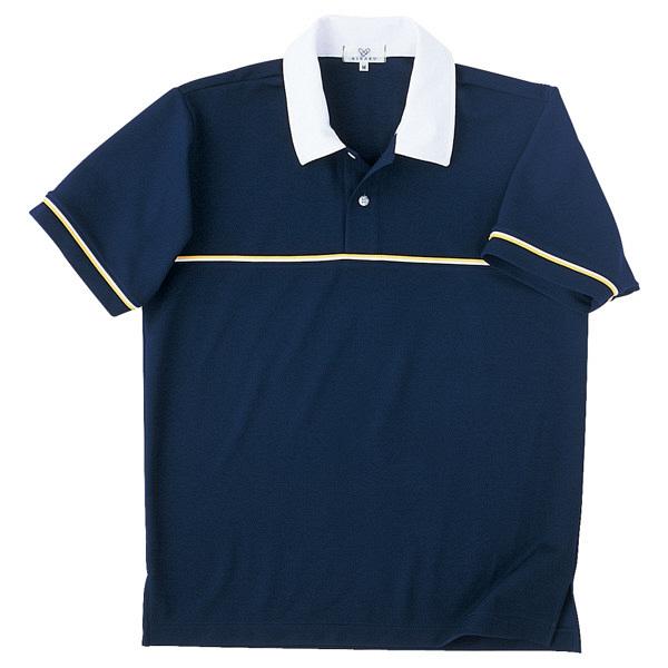 トンボ キラク ニットシャツ  ネイビー  L CR093-88 1枚  (取寄品)