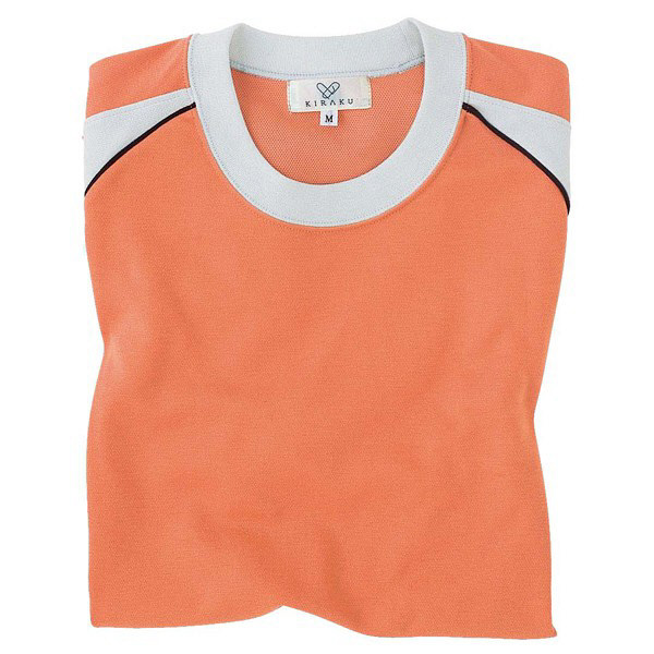 トンボ キラク Tシャツ オレンジ 3L CR095-59 1枚  (取寄品)