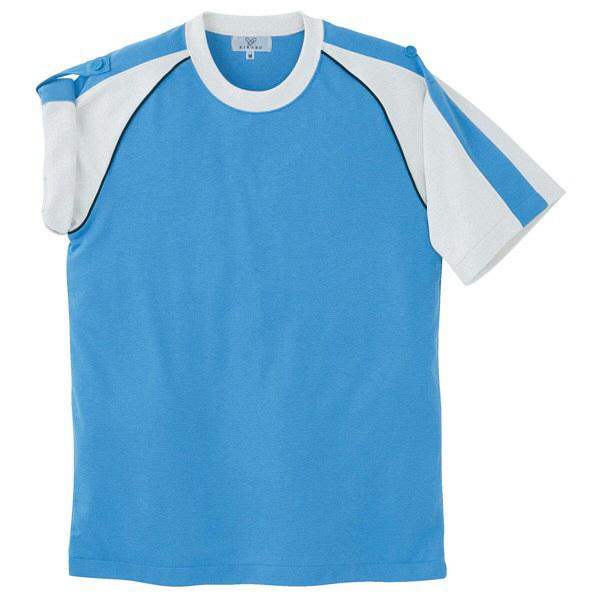 トンボ キラク Tシャツ ブルー 3L CR095-75 1枚  (取寄品)