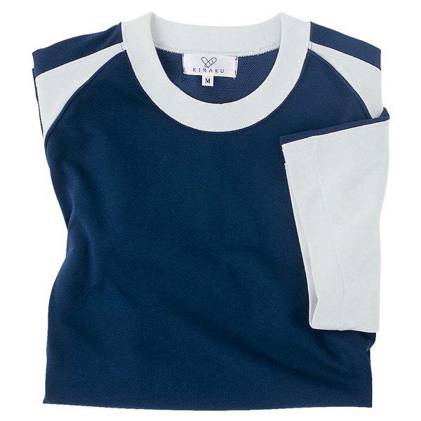 トンボ キラク Tシャツ ネイビー 3L CR095-89 1枚  (取寄品)