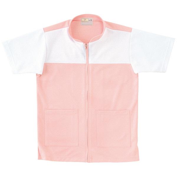 トンボ キラク ケアワーシャツ ピンク M CR100-12 1枚  (取寄品)