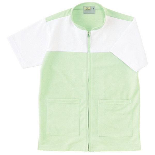 トンボ キラク ケアワーシャツ グリーン S CR100-37 1枚  (取寄品)