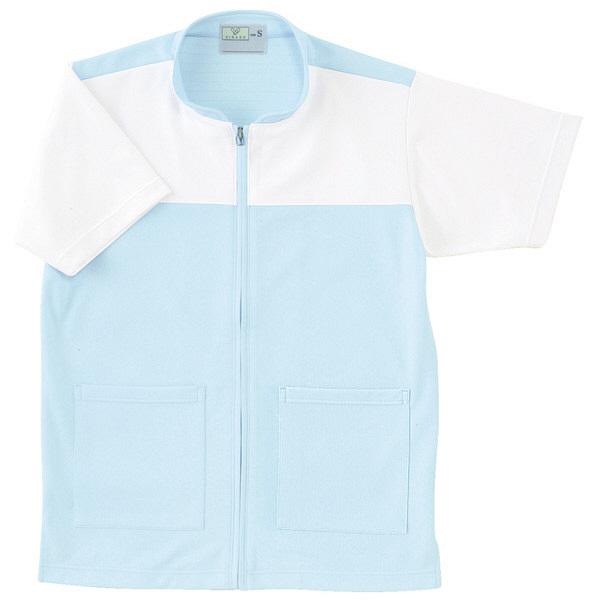 トンボ キラク ケアワーシャツ サックス L  L CR100-70 1枚  (取寄品)