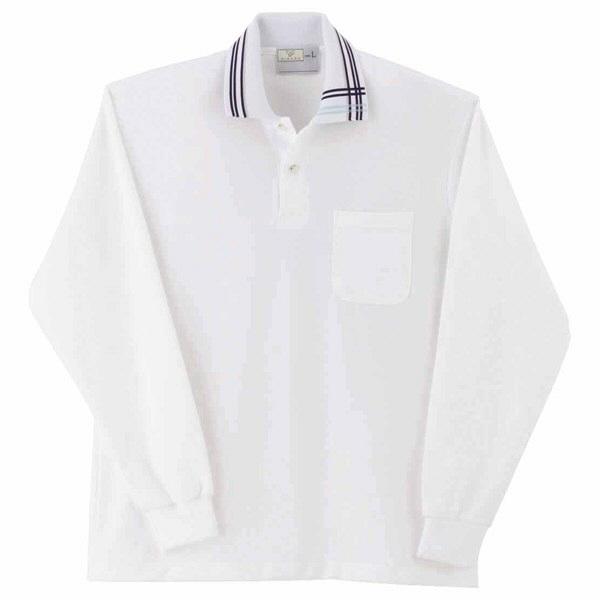トンボ キラク 長袖ポロシャツ  ホワイト  M   M CR116-01 1枚  (取寄品)