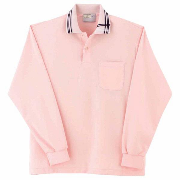 トンボ キラク 長袖ポロシャツ  ピンク  S   S CR116-11 1枚  (取寄品)
