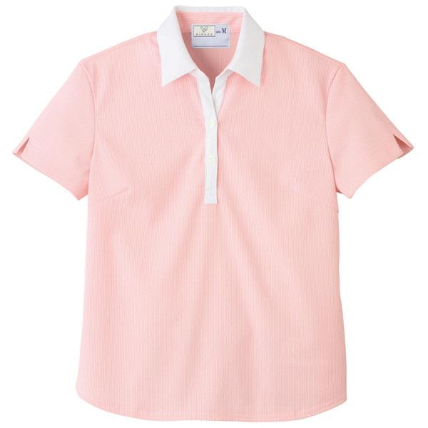 トンボ キラク レディス ニットシャツ  ピンク  L CR122-11 1枚  (取寄品)